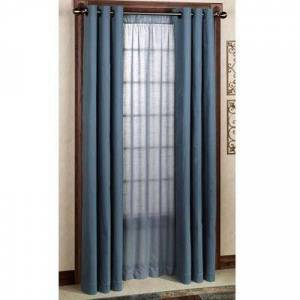 Commonwealth Home Fashion, Inc Weathermate Grommet Curtain Pair, 80 x 84, Navy