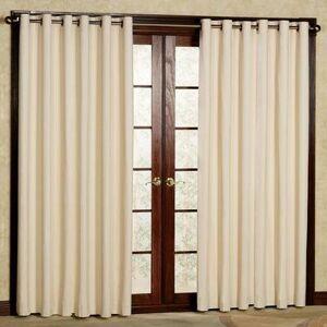 Commonwealth Home Fashion, Inc Weathermate Grommet Curtain Pair, 80 x 95, Khaki
