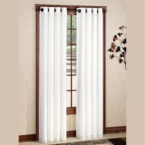 Commonwealth Home Fashion, Inc Rhapsody Grommet Curtain Panel, 54 x 84, White