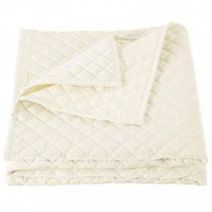 Hiend Accents Velvet Quilt, King, Light Cream