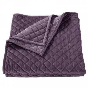 Hiend Accents Velvet Quilt, Full / Queen, Grape