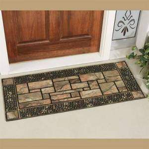 Mohawk Rug & Textiles Patio Stone Mansion Mat Natural 47 x19.5, 47 x19.5, Natural