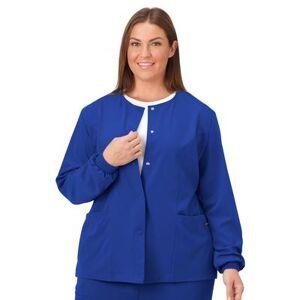 Jockey Encompass Scrubs Plus Size Women& 39;s Jockey Scrubs Women& 39;s Snap to it Warm-Up Jacket by Jockey Encompass Scrubs in Galaxy (Size XL)