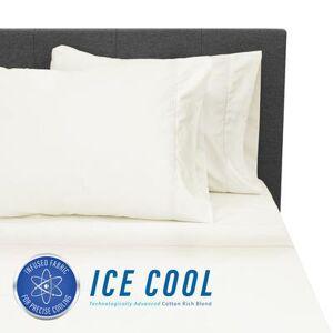 Soft-Tex International SensorPEDIC Ice Cool 400 Thread Count Cotton-Rich Cream Sheet Set by Soft-Tex International in Cream (Size KING)