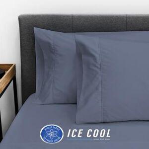 Soft-Tex International SensorPEDIC Ice Cool 400 Thread Count Standard Pillowcase Pair by Soft-Tex International in Dark Blue (Size STANDARD)