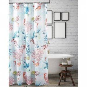 """Barefoot Bungalow """"Wide Width Sarasota Shower Curtain by Barefoot Bungalow in Multi (Size 72"""""""" W 72"""""""" L)"""""""