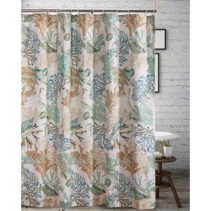 "Barefoot Bungalow ""Wide Width Atlantis Jade Shower Curtain by Barefoot Bungalow in Jade (Size 72"""" W 72"""" L)"""