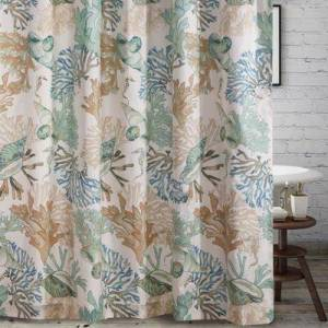 """Greenland Home Fashions """"Wide Width Barefoot Bungalow Atlantis Shower Curtain by Greenland Home Fashions in Jade (Size 72"""""""" W 72"""""""" L)"""""""