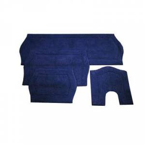 Home Weavers Inc Waterford 4-Pc. Bath Rug Set Blue by Home Weavers Inc in Navy (Size 4 RUG SET)