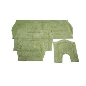Home Weavers Inc Waterford 4-Pc. Bath Rug Set Blue by Home Weavers Inc in Sage (Size 4 RUG SET)