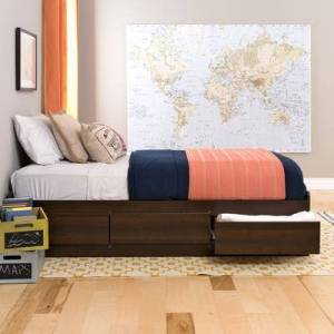 BrylaneHome Twin XL Mate& 39;s Platform Storage Bed with 3 Drawers by BrylaneHome in Expresso