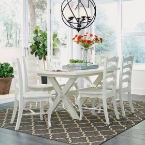 Homestyles Seaside Lodge Dining Table by Homestyles in White