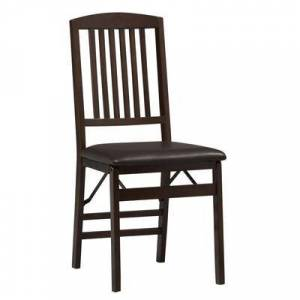BrylaneHome Mission Back Folding Chair by BrylaneHome in Espresso