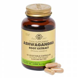 Solgar Ashwagandha Root Extract Vegetable Capsules 60caps
