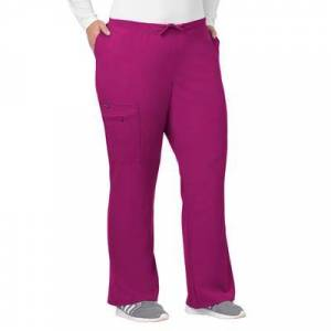 Jockey Encompass Scrubs Plus Size Women& 39;s Jockey Scrubs Women& 39;s Favorite Fit Pant by Jockey Encompass Scrubs in Plum Berry (Size 2X)