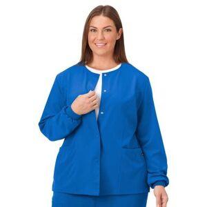 Jockey Encompass Scrubs Plus Size Women& 39;s Jockey Scrubs Women& 39;s Snap to it Warm-Up Jacket by Jockey Encompass Scrubs in Royal (Size L)