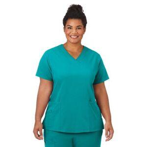 Jockey Encompass Scrubs Plus Size Women& 39;s Jockey Scrubs Women& 39;s Favorite V-Neck Top by Jockey Encompass Scrubs in Teal (Size L)