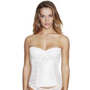 Dominique Plus Size Women& 39;s Lace Longline Bra by Dominique in Ivory (Size 38 F)