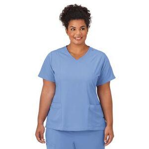 Jockey Encompass Scrubs Plus Size Women& 39;s Jockey Scrubs Women& 39;s Mock Wrap Top by Jockey Encompass Scrubs in Blue (Size M)