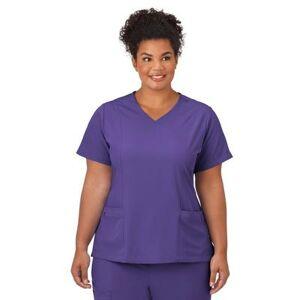 Jockey Encompass Scrubs Plus Size Women& 39;s Jockey Scrubs Women& 39;s Mock Wrap Top by Jockey Encompass Scrubs in Purple (Size M)