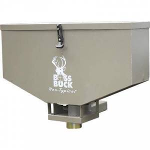 """Boss Buck Broadcast Spreader/Feeder 80 lb Capacity with 2"""""""" Receiver Hitch Mount OD Green"""""""