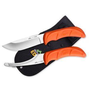 Edge Outdoor Edge Jaeger Pair Fixed Blade Knife Combo Satin Blade Polymer Handle Orange