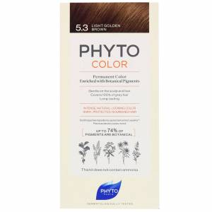 PHYTO - COLOR: Permanent Hair Dye Shade: 5.3 Light Golden Brown for Women