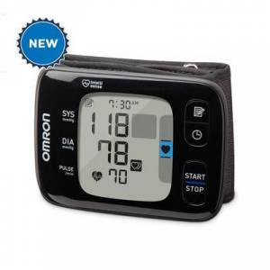 Omron 7 Series Bluetooth Wireless Wrist Worn Blood Pressure Monitor (Compatible with Alexa)