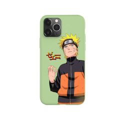 Anime Naruto Itachi Kakashi Phone Case for iPhone 11 Pro Max X XR XS 8 7 6s Plus Candy green Silicone Cases