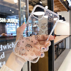 fashion Plating flowers female Phone Cover Case For Iphone X 11 pro Xs Max Xr 10 8 7 6 6s Plus Luxury Soft silicone Coque Fundas