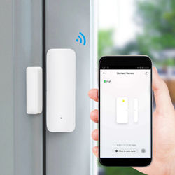 Smart WiFi Door Sensor Window Contacts Open and Close Detector Compatible with for Alexa Google Home Assistant