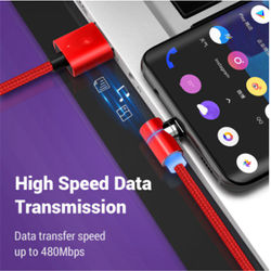 UGI 3A Magnetic Fast Charging Cable L Shape QC3.0 Type C USB C Cable For IOS Phone Micro USB Cable Data Sync For Samsung Oneplus