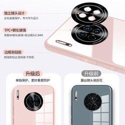 Original Liquid Tempered Glass Case For HuaWei Mate 30 Pro P30 Pro P40 Pro Nova 7 SE Pro Cover Metal Lens Protection Glass Case