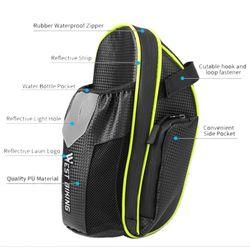 WEST BIKING MTB Bike Waterproof Rear Bag Bike Saddle Bag with Water Bottle Pocket Cycling Rear Seat Tail Bag