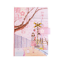 128 Pages Magnetic Hand Account Book Student Gift Handbook Girly Heart Notepad Daily Plan Yearly Agenda School Office Stationry
