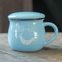 Breakfast Mug with Cover Zakka Japanese Grocery Cup Logo Customized Qicai Coffee Cup Milk Coffee Cup
