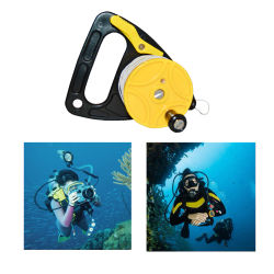 Dive Reel With Thumb Stopper High Visibility 150ft White Line Multi Purpose For Cave And Wreck Exploration Dive Accessories