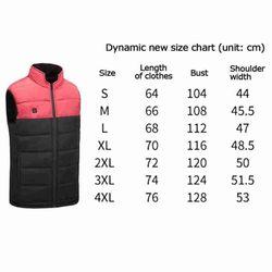 1pcs Heating Vest Men Jacket Waistcoat Electric Heated Winter Cotton Warm Unisex Outwear Down Fashion Design Outdoor Coat N0O3
