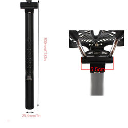 2018 new aluminum alloy bicycle seatpost MTB road mountain bike black seat post seat tube 27.2/28.6*/30.4**300 mm bicycle parts