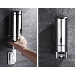 Soap Dispenser Wall Mounted Bathroom Hotel Shampoo Lotion Liquid Soap Dispenser Stainless Steel Hand Soap Dispenser