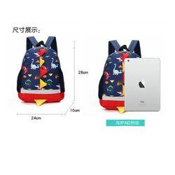 Children School Bags Cartoon Print Plush Kids Backpack Kindergarten Boys and Girls School Bags Dinosaur Backpack Book Bag