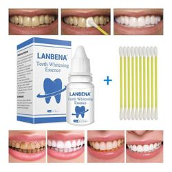 10ml Teeth Whitening Essence 10ml Tooth Brighten Liquid with Cotton Swabs Dental Cleansing Serum To Remove Tooth Stains TSLM2