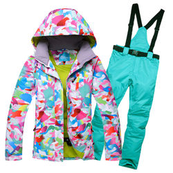 Manufacturers Direct Selling Single and Double-Board Ski Suit Women's Windproof Waterproof Thick Warm One-Piece Delivery Supply