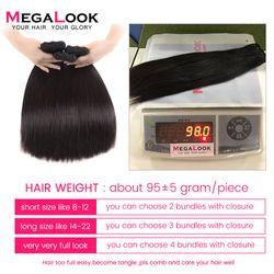 Bone Straight Hair Bundles With Closure Human Peruvian Hair Bundles With Closure 3 4 Bundles 4x4 Virgin Hair Double Drawn
