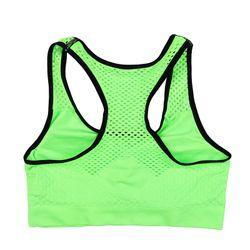 Quick Dry Mesh Sports Bra Women, Seamless Push Up Yoga Bra, Wireless Shockproof Fitness Gym Bra, Removable Padded Sports Bra Top