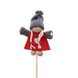 Christmas Ornaments Bamboo Sticks Small Snowman Doll Dolls Wool Felt Christmas Tree Garland Ornament Accessories