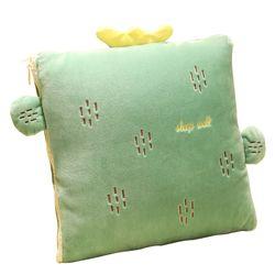 Blanket fur blanket Car Pillow Blanket Dual-Purpose Nap Airable Cover Pillow and Blanket Cartoon Quilt Pillow Dual-Purpose