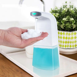 Automatic Foam Soap Dispenser Hands Free Soap Dispenser 10.48oz Waterproof Infrared Sensor for Bathroom Kitchen