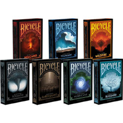 Bicycle Natural Disasters Snowstorm Playing Cards USPCC Collectable Deck Poker Size Magic Card Games Magic Tricks Props