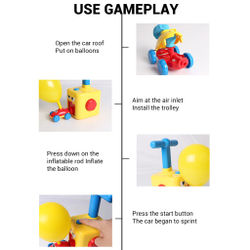 Kids Toys Inertial Power Ball Cartoon Car Science Experiment Toy Fun Inertial Energy Saving Baby Toy 2 Cars Ideal Gift
